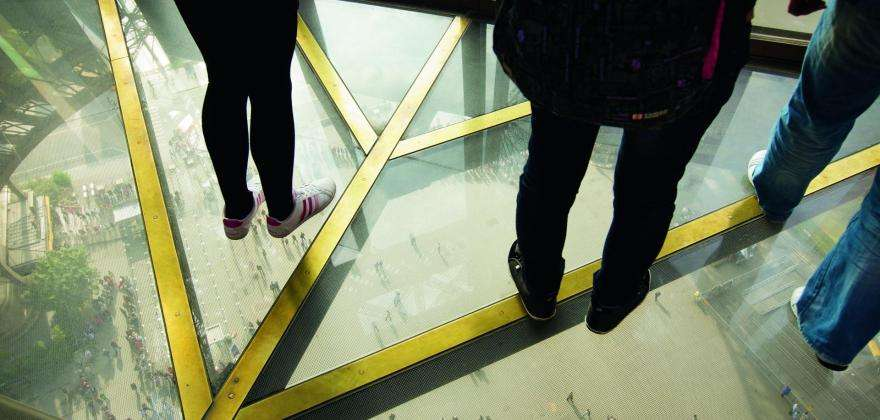 The Eiffel Tower has a new glass floor and a champagne bar